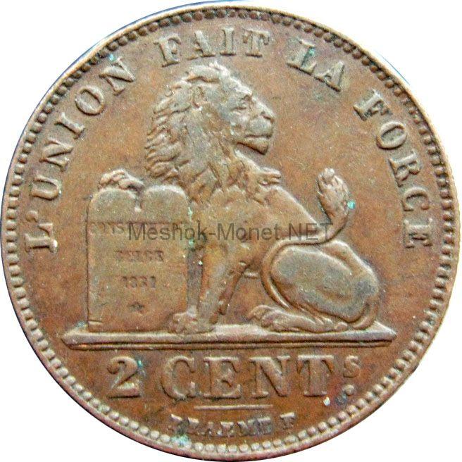 Бельгия 2 сентима 1919 г.