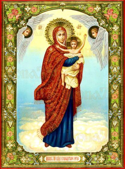 Благодатное небо (рукописная икона с резьбой)