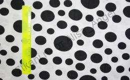 Чёрные круги на белом кулирка ринг отрез 1,05 м ширина 175см