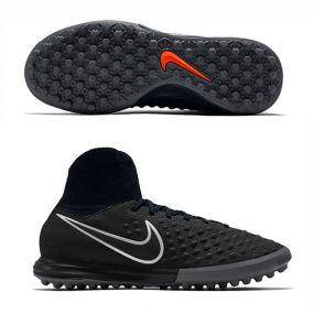 Детские шиповки-сороконожки Nike MagistaX Proximo II TF чёрные