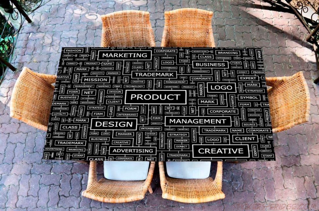 Наклейка на стол - Переговорная