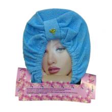 Полотенце-тюрбан для сушки волос, цвет синий