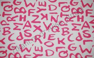 Буквы ярко-розовые футер 2-х нитка отрез 0.7м