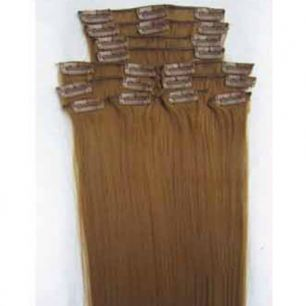 Искусственные термостойкие волосы на заколках №018 (55 см) - 12 заколок, 130 гр.