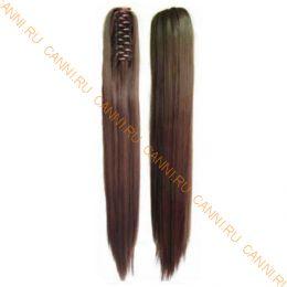 Искусственные термостойкие волосы на зажиме прямые №008 (55 см) -  150 гр.