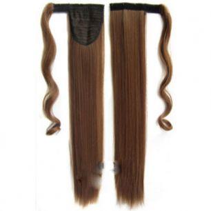 Искусственные термостойкие волосы - хвост прямые №012 (55 см) -  90 гр.