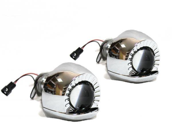 "Комплект биксеноновых линз Carprofi Round Visor MINI 1.8"" H1 (MORIMOTO)"