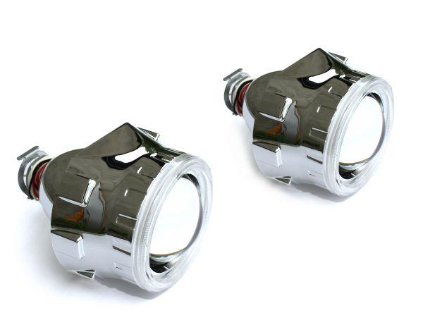 """Комплект биксеноновых линз Carprofi Gunpoint CCFL """"Ангельские глазки"""" 2.5"""" H1 (MORIMOTO)"""