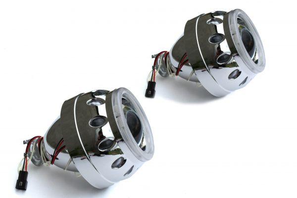 """Комплект биксеноновых линз Carprofi Plane CCFL """"Ангельские глазки"""" 2.5"""" H1 """"Type B"""" (MORIMOTO)"""