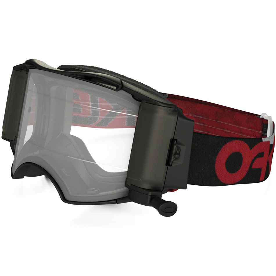 Oakley - Airbrake Factory B1-B (Roll-Off) очки красно-черные, линза прозрачная