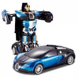 Радиоуправляемый робот-трансформер Bugatti Veyron (черно-золотая)