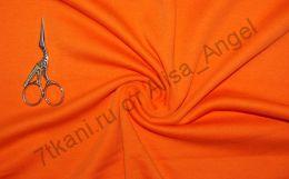 Оранж апельсин интерлок отрез 0,7м (пятна на изнанке вдоль кромки)