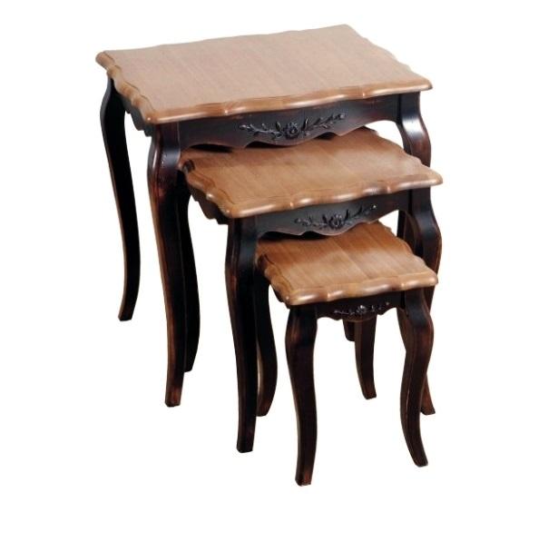 Комплект консольных столиков Mobilier de Maison Коричневый