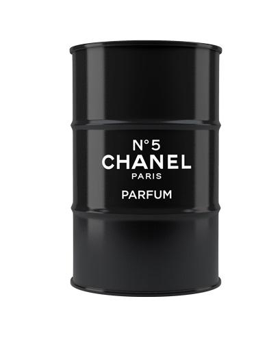 Декоративная бочка Chanel №5 black L