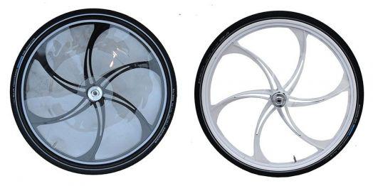 Колеса для призовой качалки LOTUS. Аллюминиевые. Размер 28 дюймов. 2 колеса