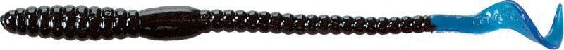 Червь MISTER TWISTER Phenom Worm 15 см уп. 20 шт. 35 (черный / голубой хвост)
