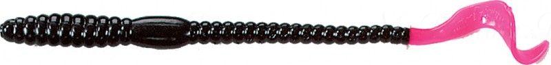 Червь MISTER TWISTER Phenom Worm 15 см уп. 20 шт. 36 (черный / огненный хвост)