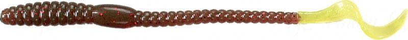 Червь MISTER TWISTER Phenom Worm 15 см уп. 10 шт. 2010RS (моторное масло с красными блестками / салатовый хвост) фирменная упаковка