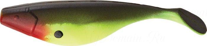 Виброхвост MISTER TWISTER Shad 5 см уп. 20 шт. B10PR (салатовый с черной спинкой / огненная голова)