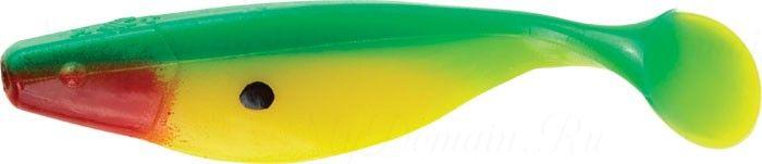 Виброхвост MISTER TWISTER Shad 5 см уп. 20 шт. G2R (Зеленый / салатовое брюшко / огненная голова, с точкой атаки)