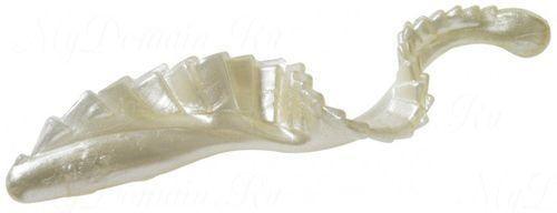 Твистер с гребешком MISTER TWISTER G-Grub 7 см уп. 8 шт. 1P (белый жемчуг) фирменная упаковка