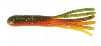 Октопусы MISTER TWISTER FAT Tube 10 см уп. 20 шт. 1810PR (зеленовато-оранжевый с блестками)