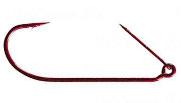 Офсетный крючок MISTER TWISTER незацепляйка Keeper worm hook Red № 5/0 уп. 10 шт. (красный)