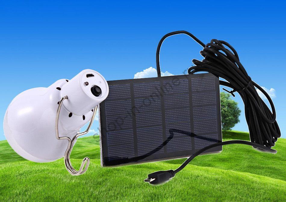 Светодиодная лампа 0,8 Вт  с солнечной батареей
