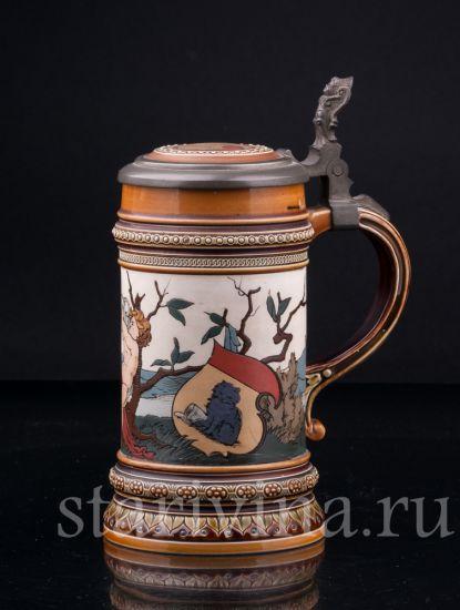 Изображение Путти с кувшином, 1/2 л, Mettlach, Германия, 1887 г