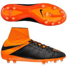 Бутсы Nike HyperVenom Phantom II Leather FG чёрные