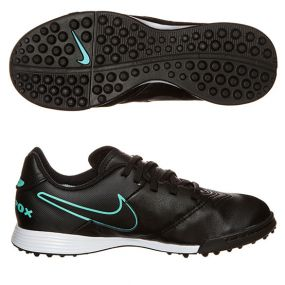 Детские шиповки-сороконожки Nike Tiempo Legend VI TF чёрные