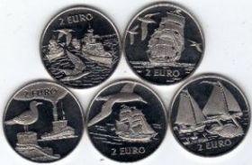 Парус Ден Хелдер 2 евро Нидерланды 1997