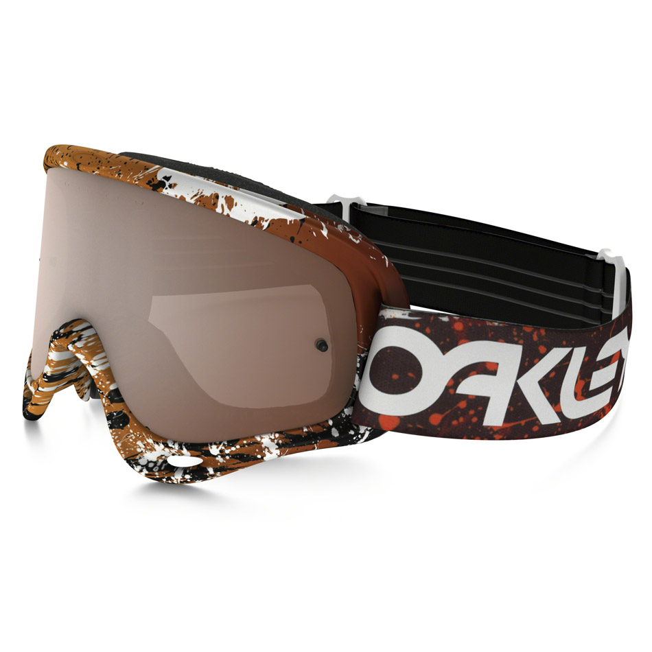 Oakley - O-Frame Splatter очки оранжево-черные, линза зеркальная черная