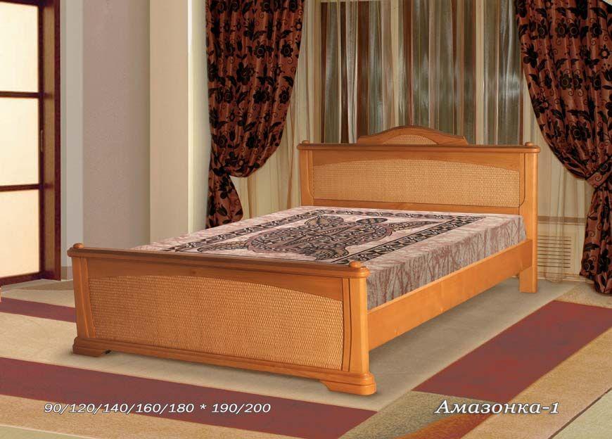 Кровать Амазонка-1 (ротанг) | Альянс XXI век