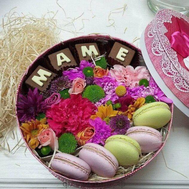 """Цветы в коробке """"Маме"""""""