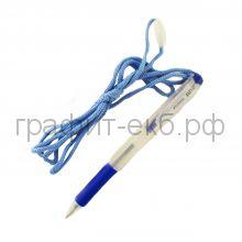 Ручка шариковая Zebra BN-2 синяя со шнурком