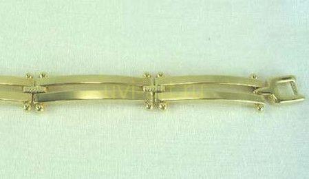 """Стильный позолоченный браслет """"Double bar"""" (арт. 160121)"""