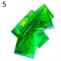 """Фольга/ слюда для дизайна эффект """"Битое стекло"""" №5, зеленый"""