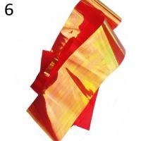 """Фольга/ слюда для дизайна эффект """"Битое стекло"""" №6, огненно-красный"""