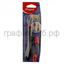 Нож для бумаг Maped EasyCut скальпель с 2-мя запасными лезвиями 009400 3