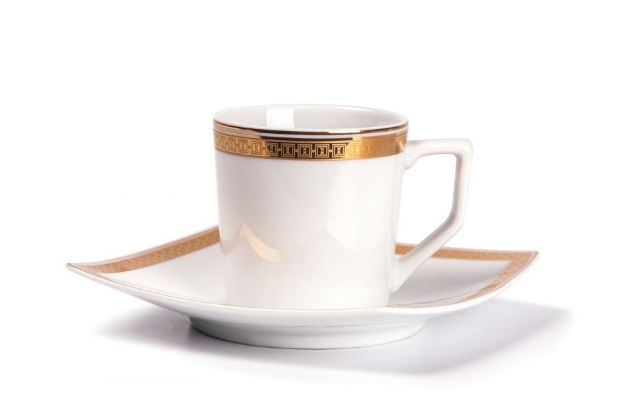 Кофейный набор на 6 персон Saint Germain Or (Kyoto), 120 мл, 12 пр.
