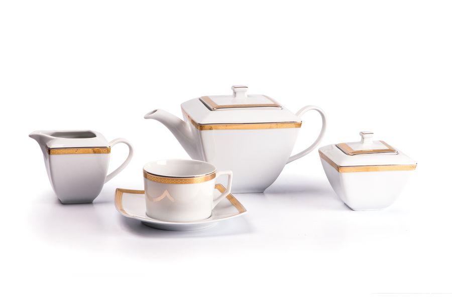 Чайный сервиз на 6 персон Saint Germain Or (Kyoto), 15 пр.