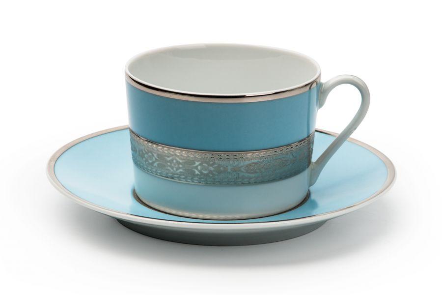 Чайный набор на 6 персон Monaco Bleu Turquoise (Mimosa), 220 мл, 12 пр.