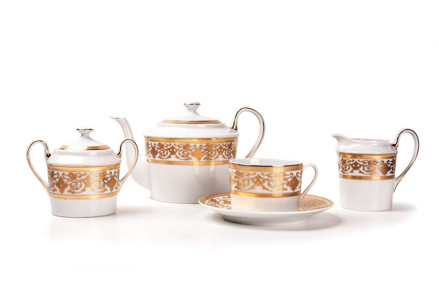 Чайный сервиз на 6 персон Ramses Or (Mimosa), 15 пр.