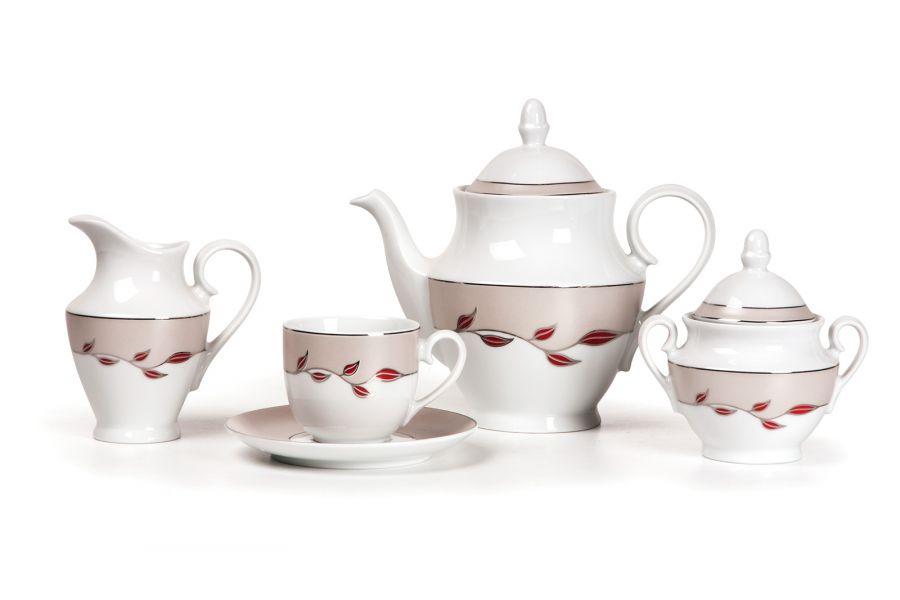 Чайный сервиз на 6 персон Elite Platine (Tanit), 15 пр.