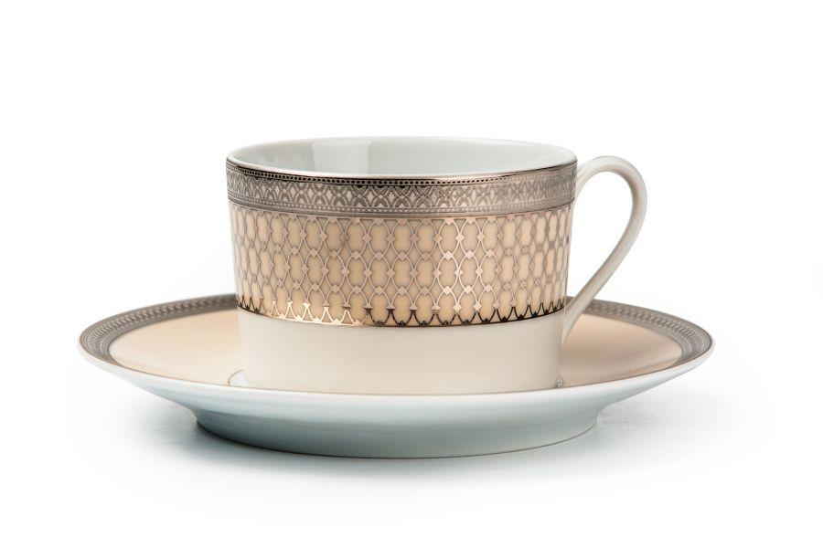 Чайный набор на 6 персон Victoir Platine (Tanit), 220 мл, 12 пр.