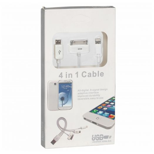 Переходник USB OL-414 (iPhone5, microUSB, Galaxy, iphone 4)