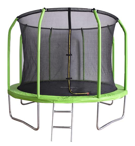 Батут с внутренней защитной сеткой -  Bondy Sport 8FT (2,44м), цвет зелёный