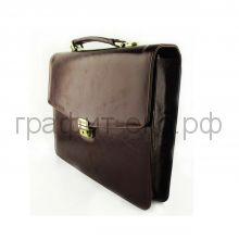 Портфель (кожа) Grand итал.гладкая кожа т.-коричневый 01-031-0823