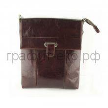 Сумка-планшет (кожа) GRAND итальянская гладкая кожа т.-коричневый 01-354-0823